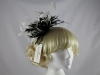 Failsworth Millinery Black and Ivory Feathers Fascinator